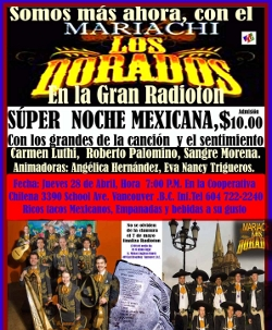 Sangre Morena joined other artists in Noche Mexicana.