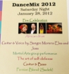 January 28, 2012.  Dance Mix 2012 Celebration of Fire at the Anne Mac Donald Studio in North Vancouver, where Sangre Morena jammed with other artists for a celebration of the arts.