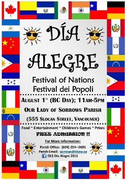 Sangre Morena joined other artists in Dia Alegre, Festival of Nations, on August 1 at the auditorium of Our Lady of Sorrows Church.