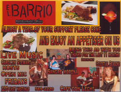 Promotion for El Barrio Restaurante Latino, Summer 2009