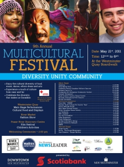 May 21, 2011:  Sangre Morena performed at the New Westminster Multicultural Festival.
