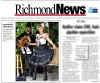 Our performance at the London Heritage Farm was displayed on the cover of the Richmond Review newspaper, July 13, 2011
