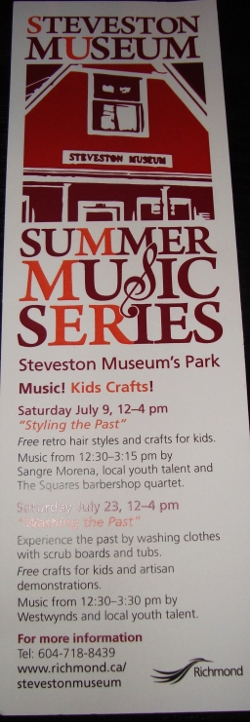 Sangre Morena performed for a second successful year at the Steveston Museum Summer Music Series on July 9, 2011